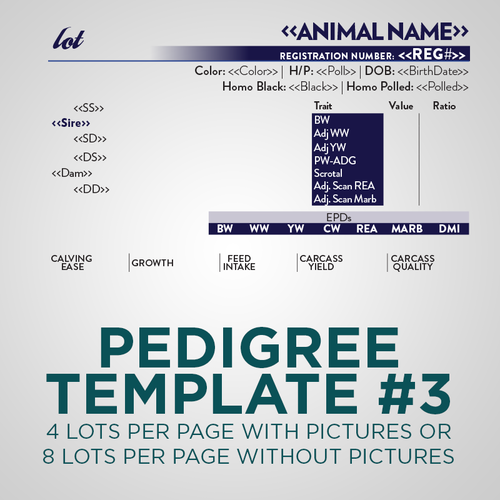 Sale Animal Pedigree Template - Version 3