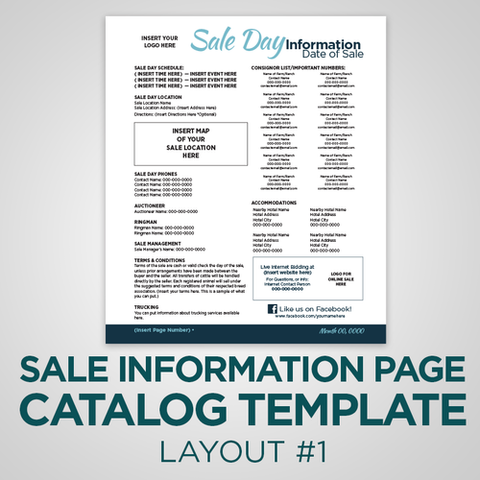 Sale Info Page Template - Version 1