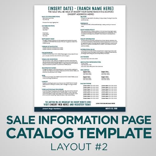 Sale Info Page Template - Version 2