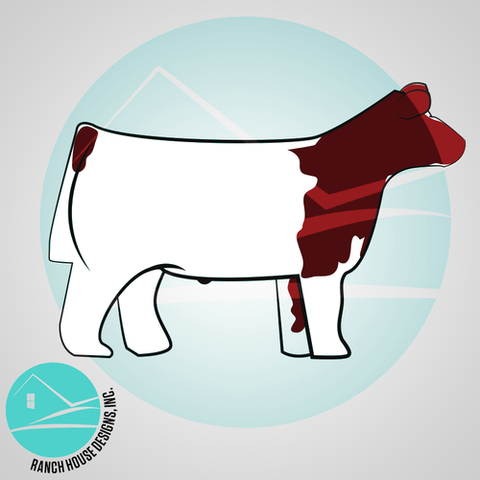 Shorthorn Show Steer Cutout