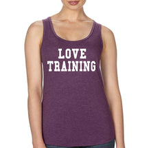Love Training - Tri Blend Racerback - SoreTodayStrongTomorrow