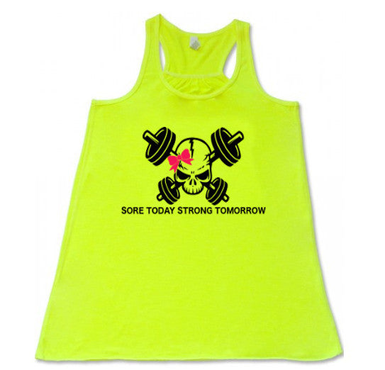 Sore Today Strong Tomorrow Logo Flowy Racerback Tank - SoreTodayStrongTomorrow