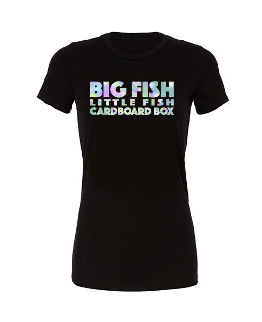 Big fish little fish cardboard box - tshirt **chrome** - SoreTodayStrongTomorrow