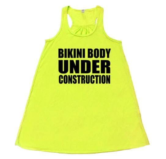 Bikini Body Under Construction - Flowy Racerback - SoreTodayStrongTomorrow