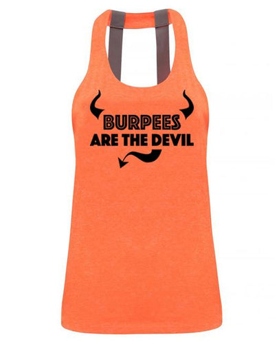 Burpees are the devil - Double strap back - SoreTodayStrongTomorrow