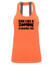RUN LIKE A ZOMBIE IS BEHIND YOU text only - Double strap back - SoreTodayStrongTomorrow