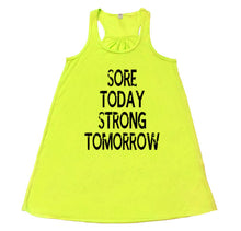 Sore Today Strong Tomorrow- Flowy Racerback Tank - SoreTodayStrongTomorrow
