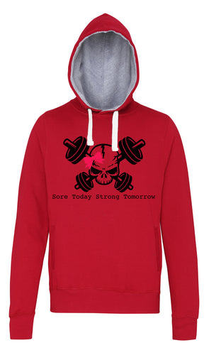Sore Today Strong Tomorrow -  Red Hoodie - SoreTodayStrongTomorrow