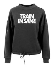 TRAIN INSANE - Women's oversize crew neck sweatshirt - SoreTodayStrongTomorrow