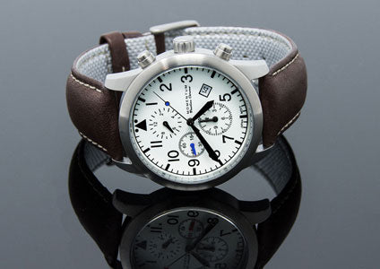 Momentum Watches | Flatline Chrono 42 Leather | Adventure Chronograph Watch
