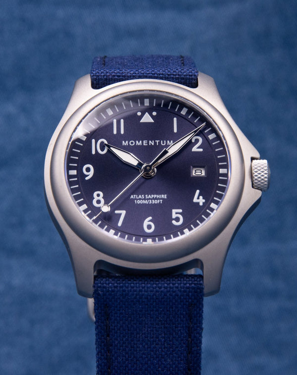 Atlas - Blue Sapphire Special Edition [38mm] - Momentum Watches US