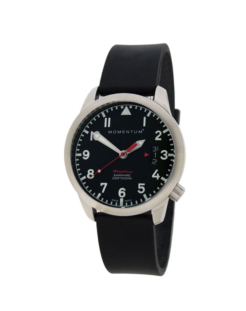 Flatline Micro Black [36mm] - Momentum Watches US