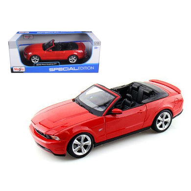 2010 Ford Mustang Convertible Red 1/18 Diecast Model Car by Maisto