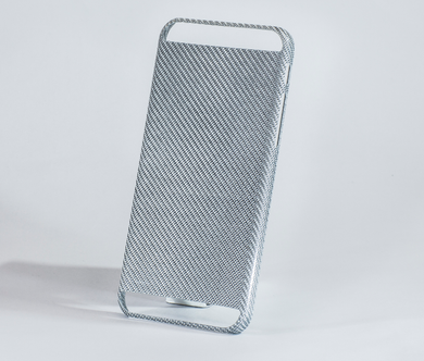 Carbon Fiber Silver iPhone 6 cover