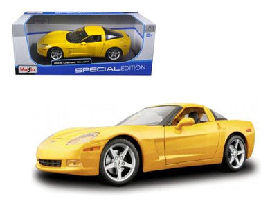 2005 Chevrolet Corvette C6 Coupe Yellow 1-18 Diecast Model Car by Maisto