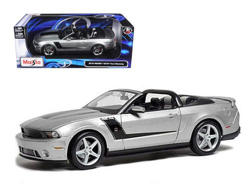 2010 Ford Mustang Convertible 427R Roush Edition Silver 1-18 Diecast Model Car by Maisto