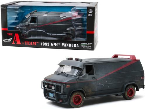 1983 GMC Vandura Black Weathered Version with Bullet Holes