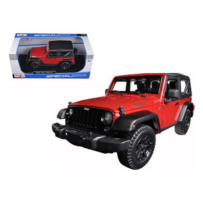 Maisto 31610cop 2014 Jeep Wrangler Willys Copper 1-18 Diecast Model Car