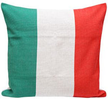 Italy Flag Print Cushion Cover