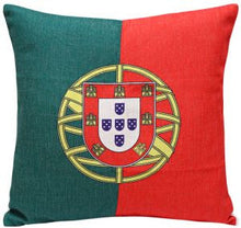 Portugal Flag Print Cushion Cover