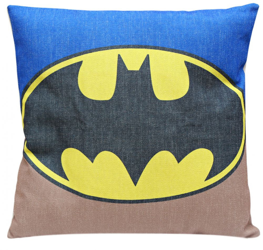 Batman Logo Print Cushion Cover