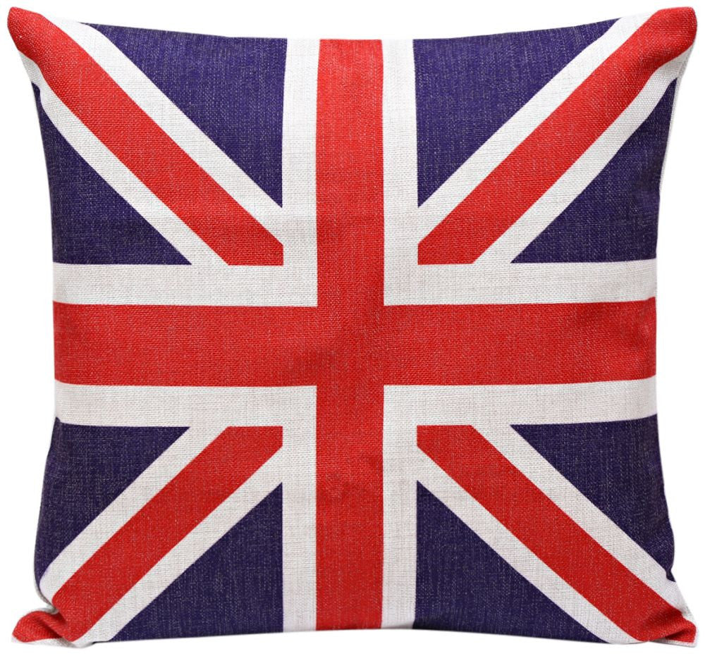 UK Flag Print Cushion Cover