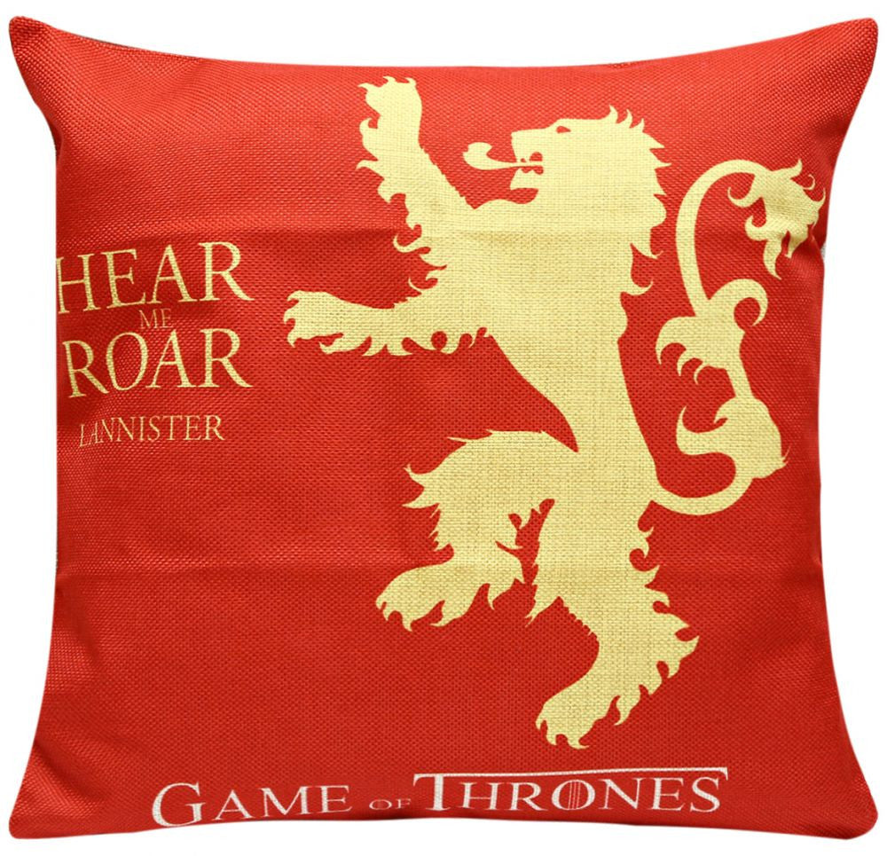 Game Of Thrones Lanister Print Cushion Cover