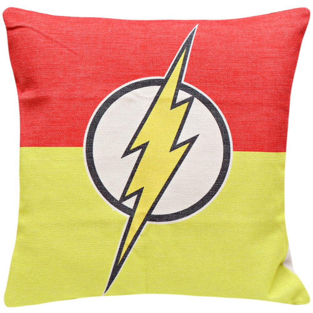 Flash Logo Print Cushion Cover