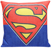 Superman Logo Print Cushion Cover