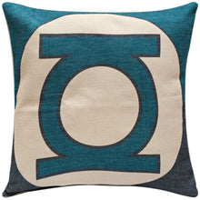 Green Lantern Logo Print Cushion Cover