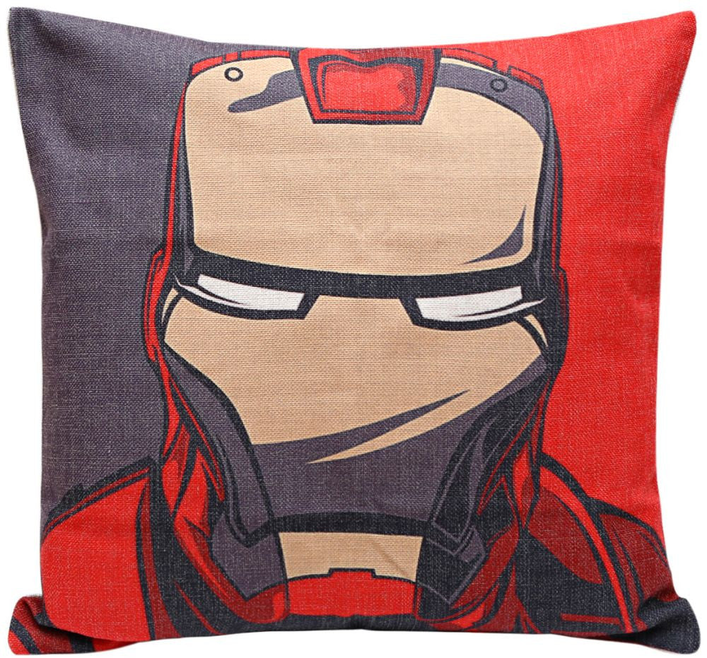 Iron Man Print Cushion Cover