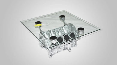 V8 Engine block coffee table