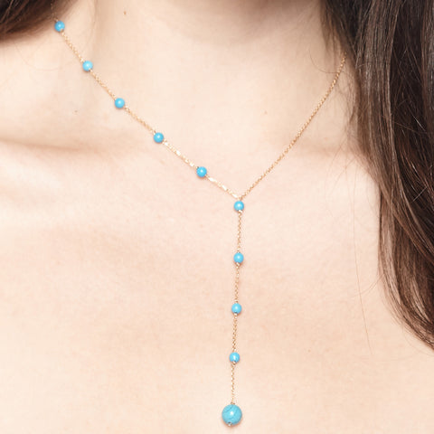 Single Side Turquoise Necklace