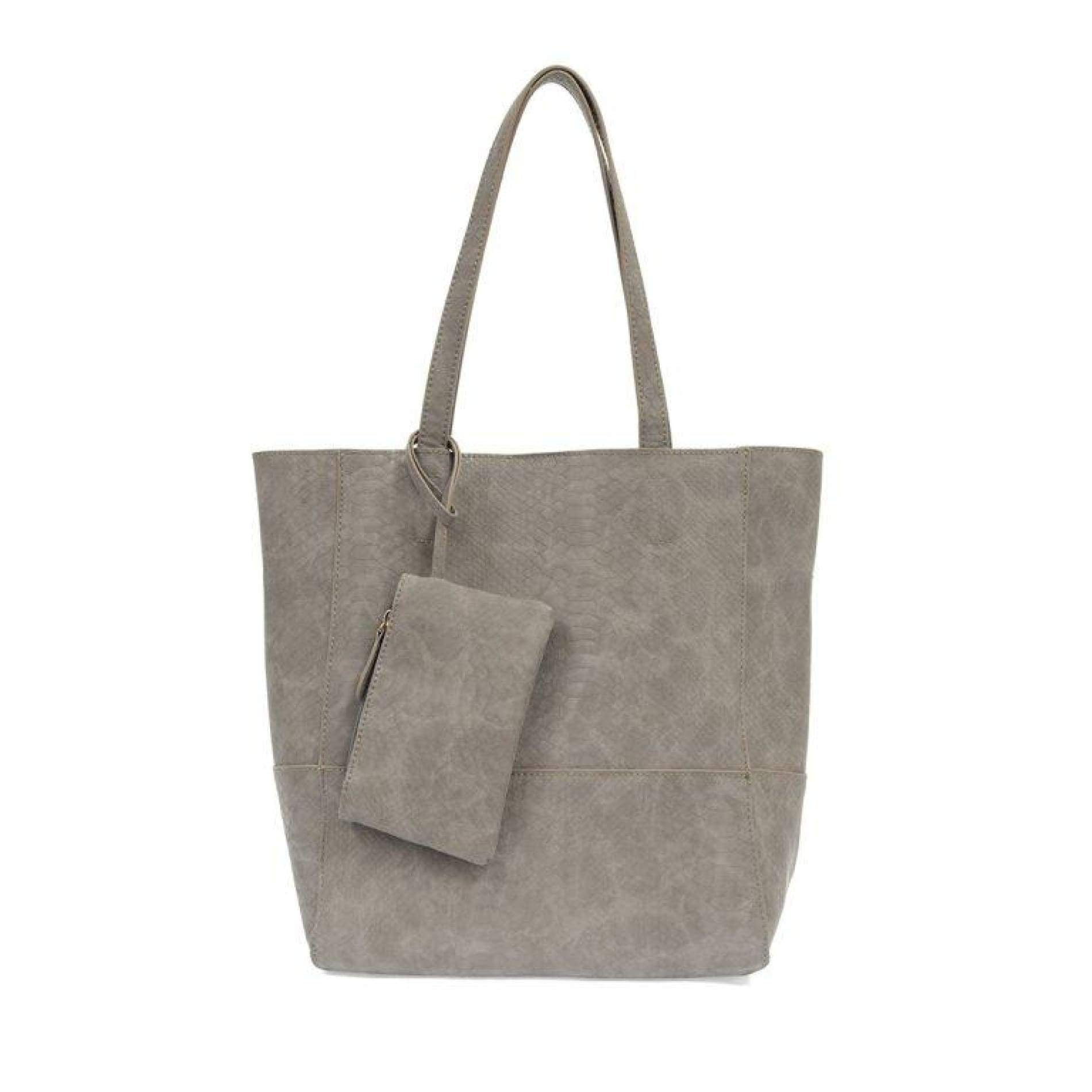 Avery Python Tote Handbag - Smoke - Accessories