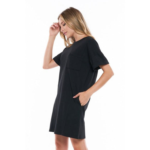 Back To The Basics T-Shirt Dress - Dress