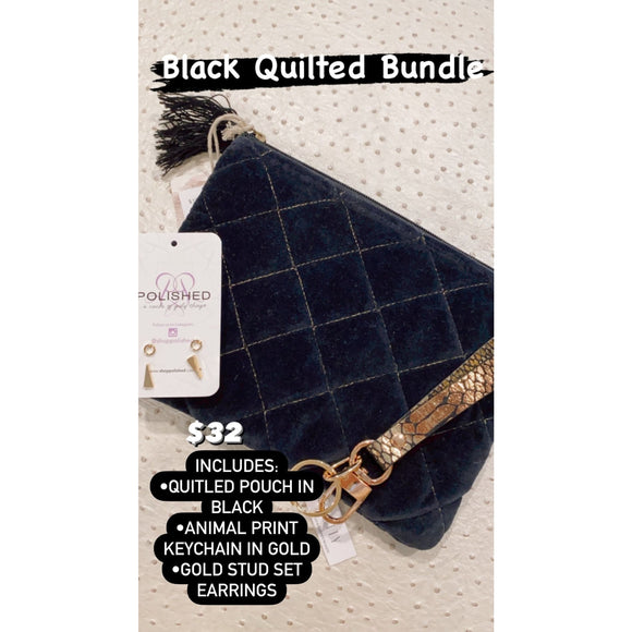 Black Quilted Bundle - Accessories