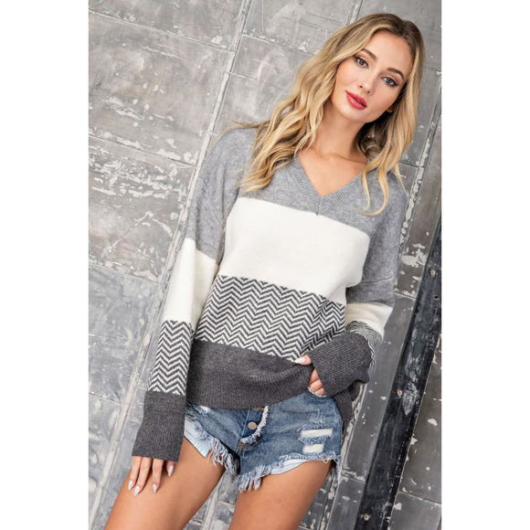 Cover Me Chevron Sweater - Sweater