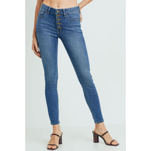 Drea Button Down Denim - Bottoms