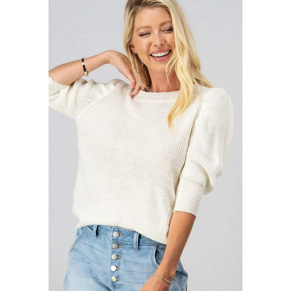 Frothy Sweater Top - Sweaters