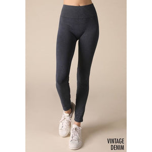 Keep Your Stride Leggings - O/S / Vintage Denim - Bottoms