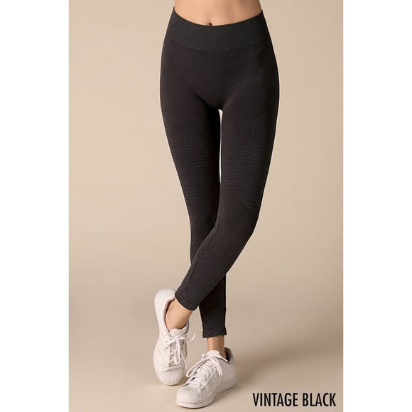 Pleated Moto Leggings - Bottom