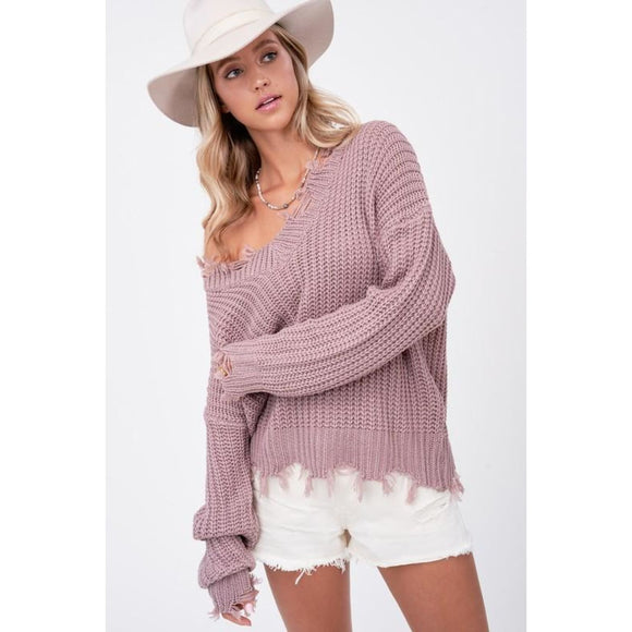 Simply The Best Sweater - SM / Mauve - Sweater