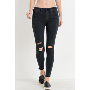 Skinny Slit Denim - Bottoms