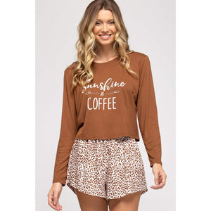 Sunshine and Coffee PJ Set - Top