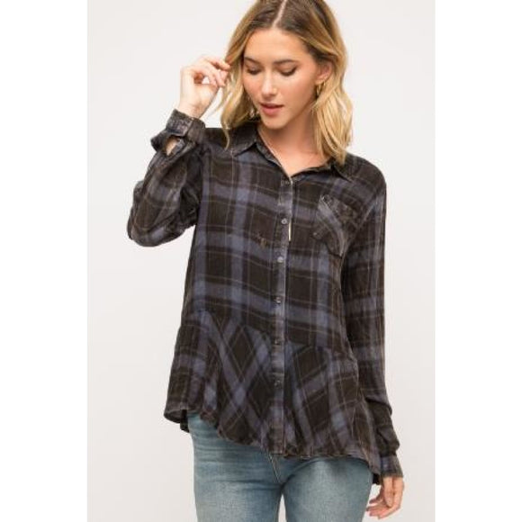 Sweet Darling Plaid Top - Top