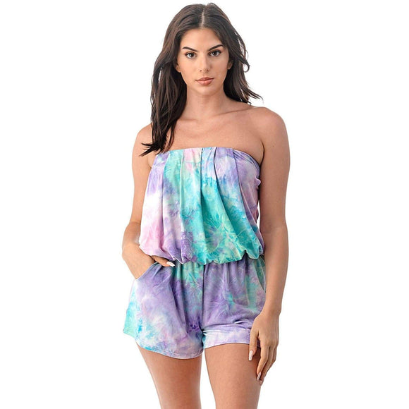 Tube Top Romper - Rompers