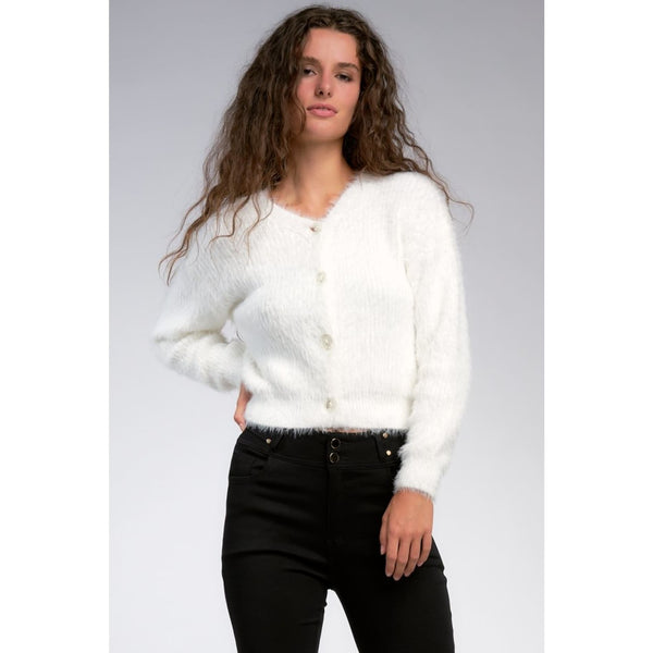 Winter White Wonder Sweater - Sweaters