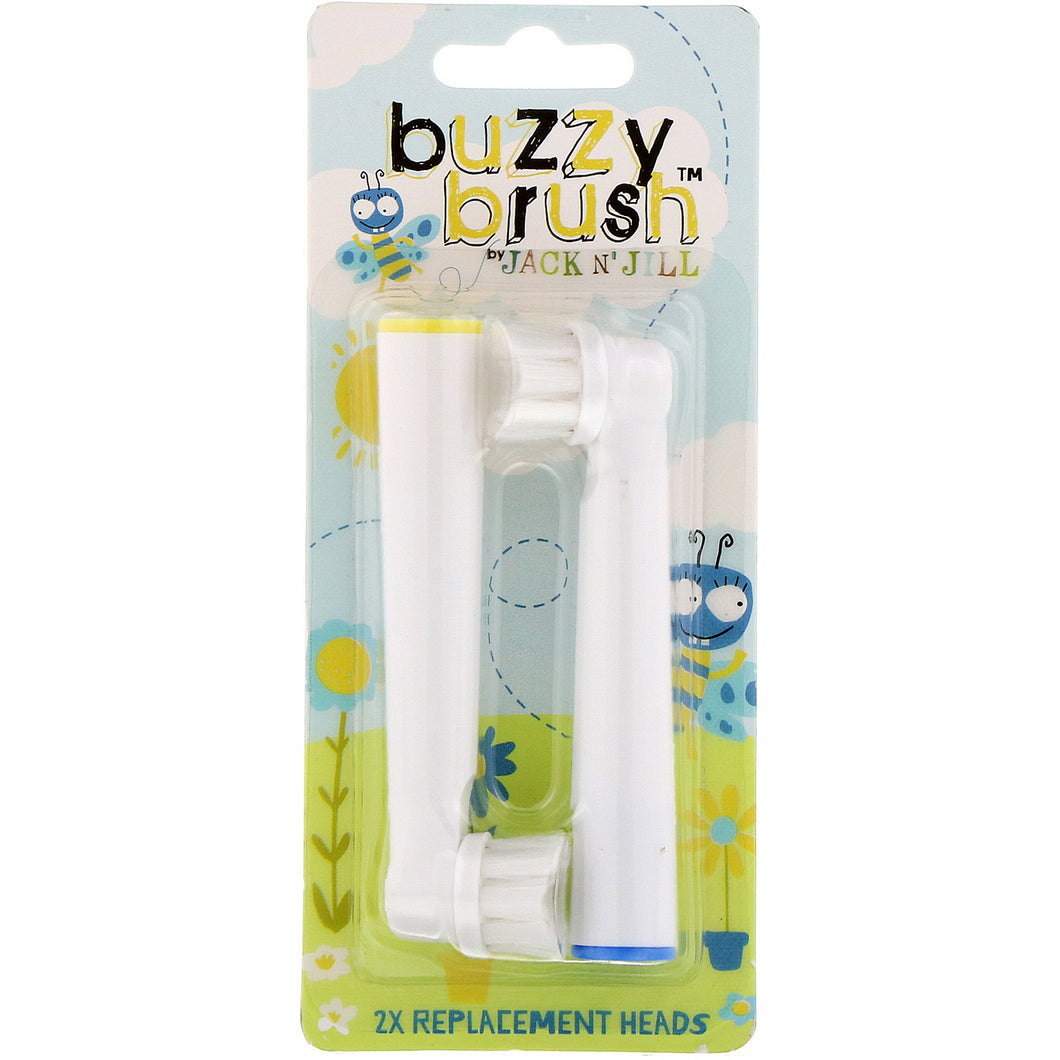 Buzzy Brush Toothbrush Replacement Heads (2 pack)