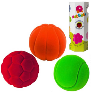 "3 Pack of Small Sports Balls (3 x 2.5"")"