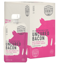Load image into Gallery viewer, Organic Puree: 6 Pack of Uncured Bacon with Kale & Butternut Squash (6M) (3.5 oz)